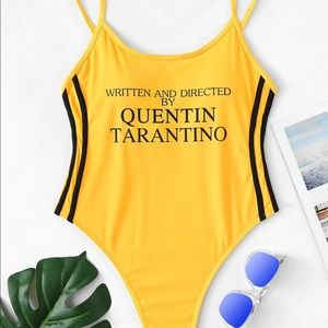 NEW Kill Bill slogan one piece swimsuit